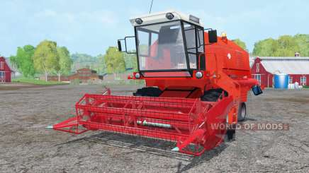 Bizon Z058 vivid red para Farming Simulator 2015
