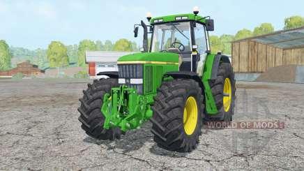 A John Deere 7810 frente loadeᶉ para Farming Simulator 2015