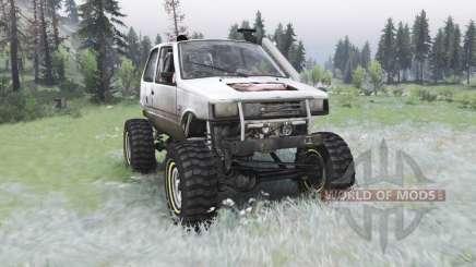 VAZ-1111 Oka fora-de-estrada para Spin Tires