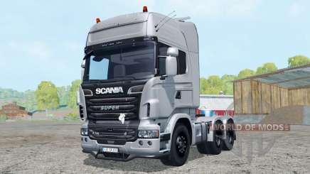 Scania R730 V8 Topline 6x6 para Farming Simulator 2015