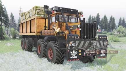 Kirovets K-700A 8x8 personalizado para Spin Tires