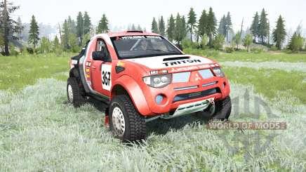 Mitsubishi L200 Triton Dakar para MudRunner