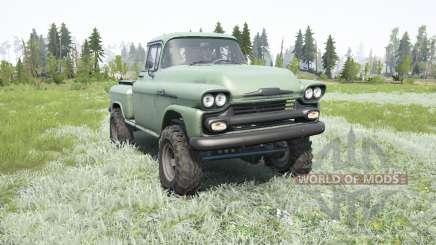 Chevrolet Apache 36 Stepside 1958 para MudRunner