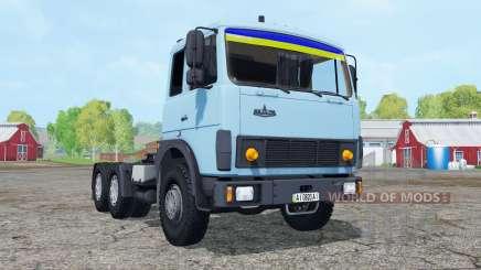 MAZ-6422 macio, de cor azul, para Farming Simulator 2015