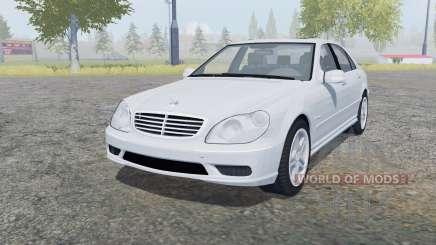 Mercedes-Benz S 65 AMG (W220) 2005 para Farming Simulator 2013