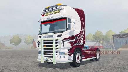 Scania R560 Topline antique ruby para Farming Simulator 2013