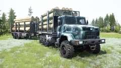 KrAZ-7140Н6 8x8 para MudRunner