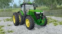 A John Deere 7310R frente loadeᶉ para Farming Simulator 2015