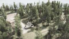 A estrada e a floresta para MudRunner