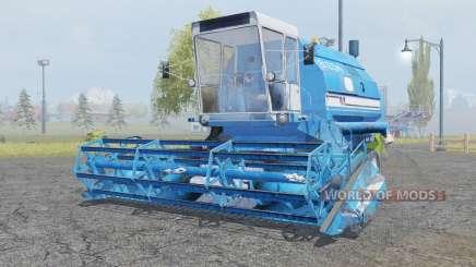 Bizon Gigant Z083 rich electric blue para Farming Simulator 2013