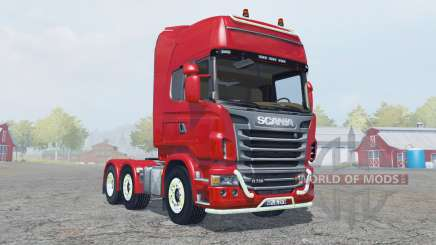 Scania R730 Topline strong red para Farming Simulator 2013