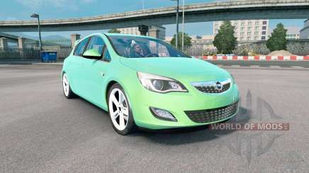 Opel Astra (J) 2010 medium spring green para Euro Truck Simulator 2