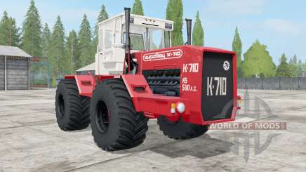 Kirovets K-710 de cor vermelho brilhante para Farming Simulator 2017