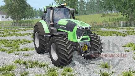 Deutz-Fahr 9340 TTV Agrotron with weight para Farming Simulator 2015