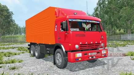 KamAZ-53212 vermelho brilhante Okas para Farming Simulator 2015