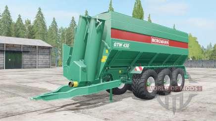 Bergmann GTW 430 wheel color selection para Farming Simulator 2017