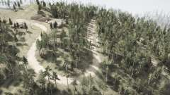 Corte as linhas de força do Urso floresta para MudRunner