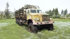 O KrAZ-255B 8x8 para MudRunner