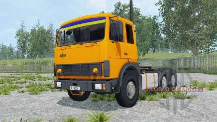 MAZ-6422 cor laranja para Farming Simulator 2015