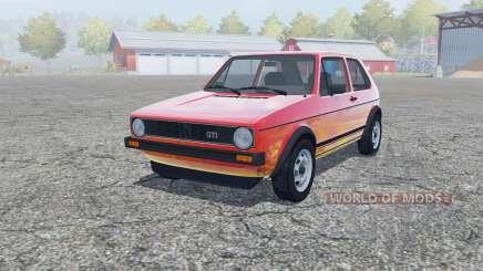 Volkswagen Golf GTI 3-door (Typ 17) 1976 para Farming Simulator 2013