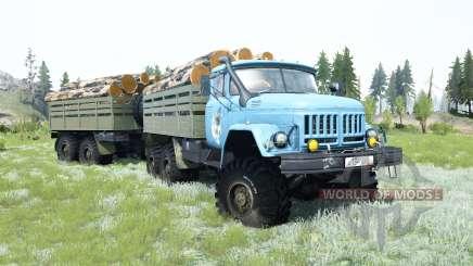 ZIL-131 é de um azul suave de cor para MudRunner
