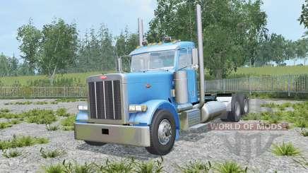 Peterbilt 379 Day Cab spanish sky blue para Farming Simulator 2015