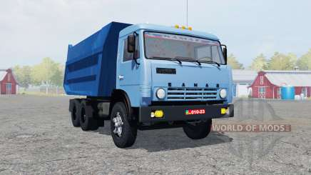 KamAZ-55111 moderadamente cor azul para Farming Simulator 2013