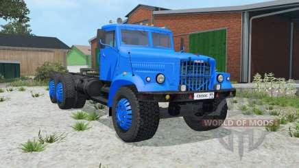 KrAZ-258 cor azul para Farming Simulator 2015