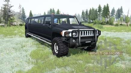 Hummer H3 Liᶆo para MudRunner