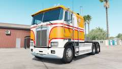 Kenworth K100E yellow orange para American Truck Simulator