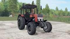 MTZ-892.2 Bielorrússia é moderadamente cor vermelha para Farming Simulator 2017