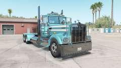 Kenworth W900A aquamarine blue para American Truck Simulator