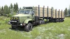 KrAZ-6322-acinzentado cor verde para MudRunner