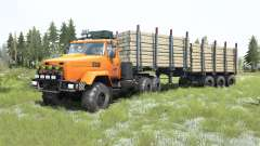KrAZ-6322 cor laranja brilhante para MudRunner