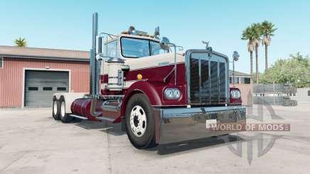 Kenworth W900A bordeaux para American Truck Simulator