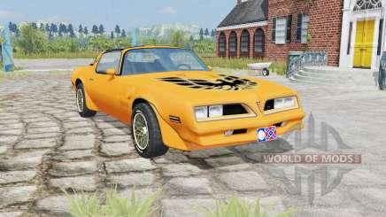 Pontiac Firebird Trans Am 1977 yellow orange para Farming Simulator 2015