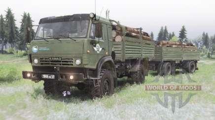 KamAZ 4350 camo-cor verde para Spin Tires