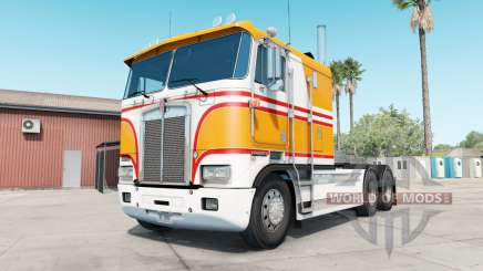 Kenworth K100E yellow orange para American Truck Simulator