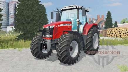 Massey Ferguson 7616 added wheels para Farming Simulator 2015