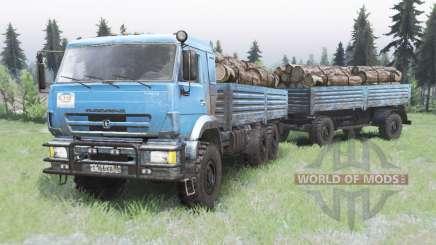 KamAZ-43118 cor azul brilhante para Spin Tires