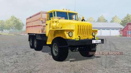 Ural-5557 com o trailer para Farming Simulator 2013