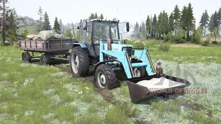MTZ-82.1 Bielorrússia soft-cor azul para MudRunner