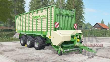 Krone ZX 550 GD chateau green para Farming Simulator 2017