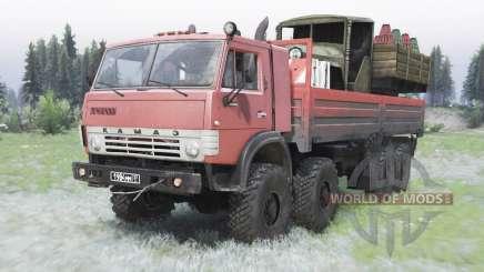 KamAZ-63501 moderadamente cor vermelha para Spin Tires