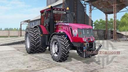MTZ-3022ДЦ.1 Bielorrússia uma cor vermelha brilhante para Farming Simulator 2017