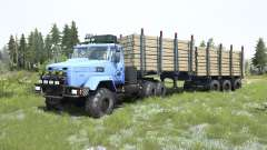 KrAZ-6322 de cor azul clara para MudRunner