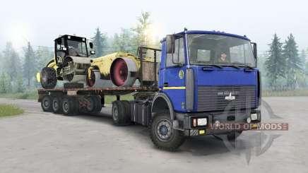 MAZ-5434 cor azul escuro para Spin Tires