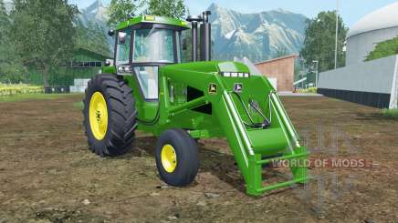 John Deere 4455 front loader islamic green para Farming Simulator 2015