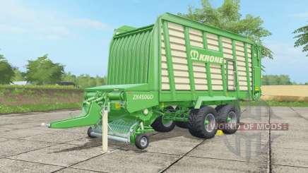 Krone ZX 450 GD malachite para Farming Simulator 2017