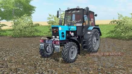 MTZ-82.1 Bielorrússia cor azul para Farming Simulator 2017